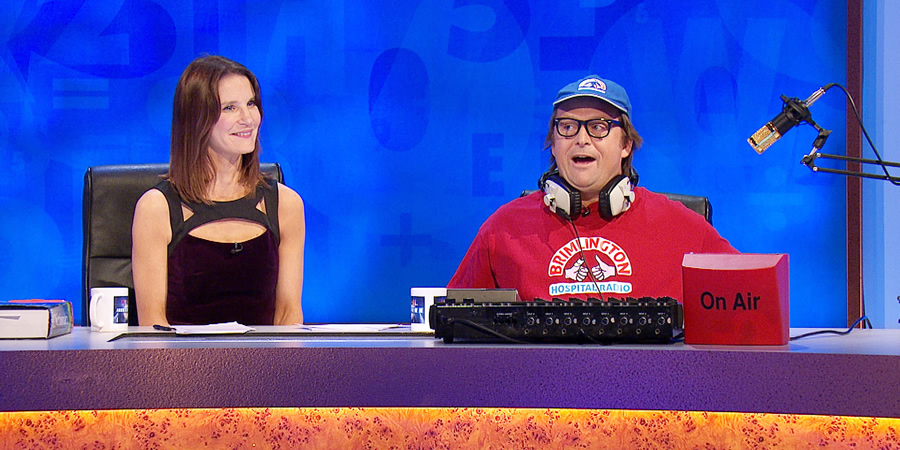 8 Out Of 10 Cats Does Countdown. Image shows from L to R: Susie Dent, Ivan Brackenbury (Tom Binns).