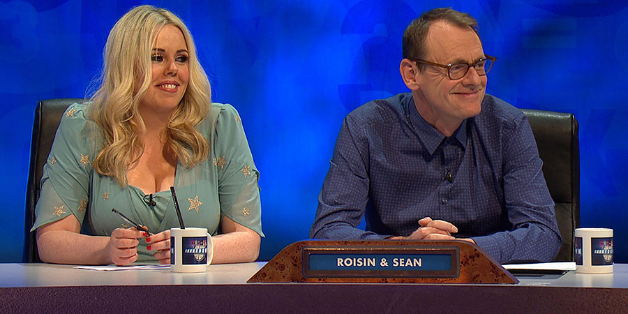 8 Out Of 10 Cats Does Countdown. Image shows from L to R: Roisin Conaty, Sean Lock. Copyright: Zeppotron.
