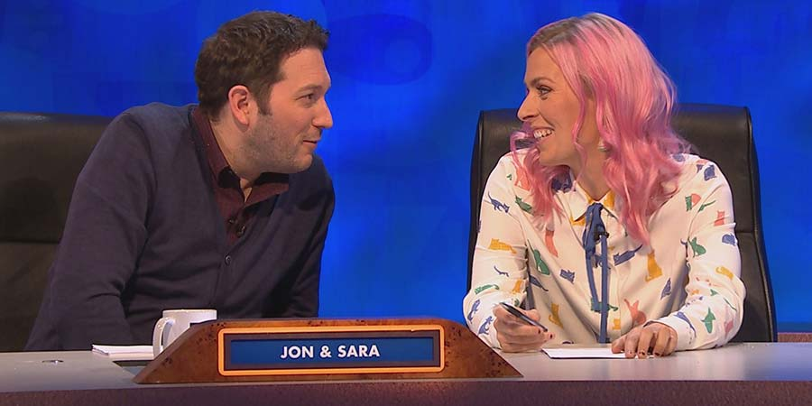 8 Out Of 10 Cats Does Countdown. Image shows from L to R: Jon Richardson, Sara Pascoe.