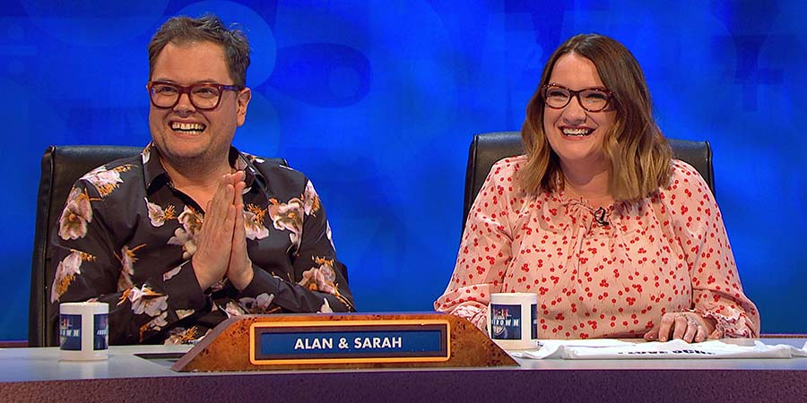 8 Out Of 10 Cats Does Countdown. Image shows from L to R: Alan Carr, Sarah Millican.