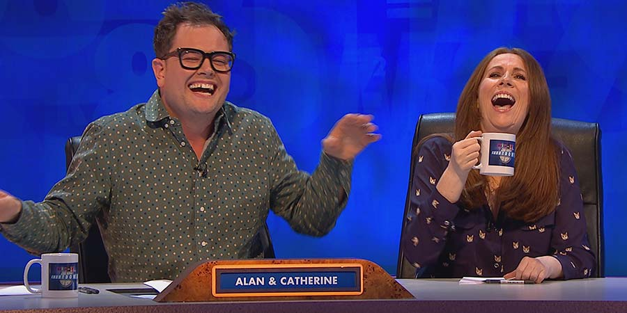 8 Out Of 10 Cats Does Countdown. Image shows from L to R: Alan Carr, Catherine Tate.