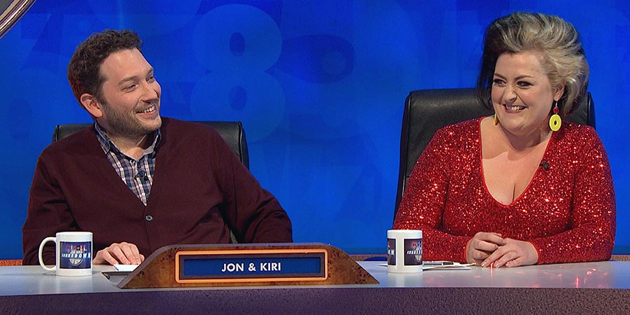 8 Out Of 10 Cats Does Countdown. Image shows from L to R: Jon Richardson, Kiri Pritchard-McLean. Copyright: Zeppotron.