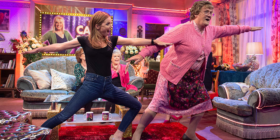 All Round To Mrs. Brown's. Image shows from L to R: Geri Halliwell, Mrs Brown (Brendan O'Carroll).