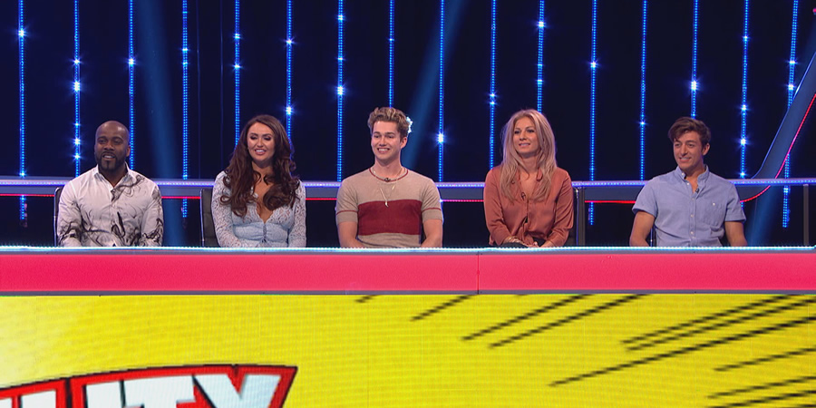 CelebAbility. Image shows from L to R: Melvin Odoom, Charlotte Dawson, AJ Pritchard, CiCi Coleman, Deano Baily. Copyright: Potato.