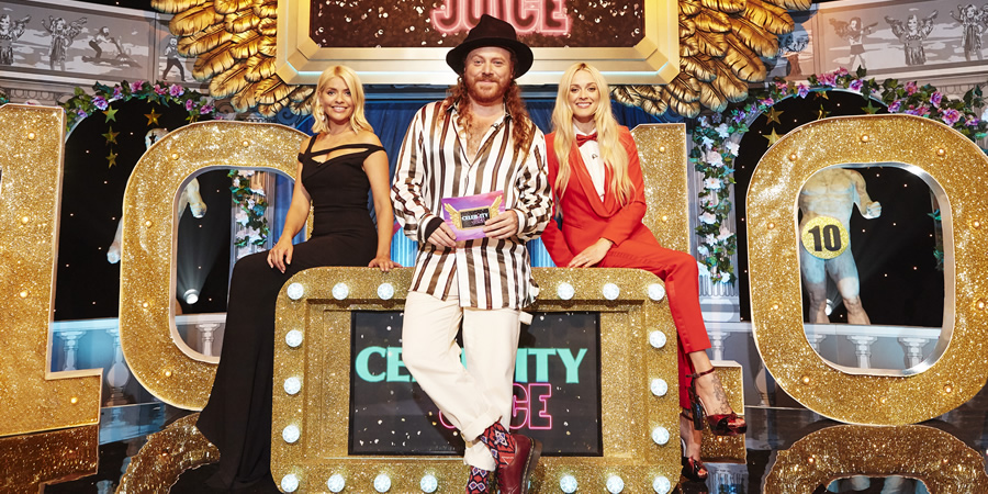 Celebrity Juice. Image shows from L to R: Holly Willoughby, Leigh Francis, Fearne Cotton.