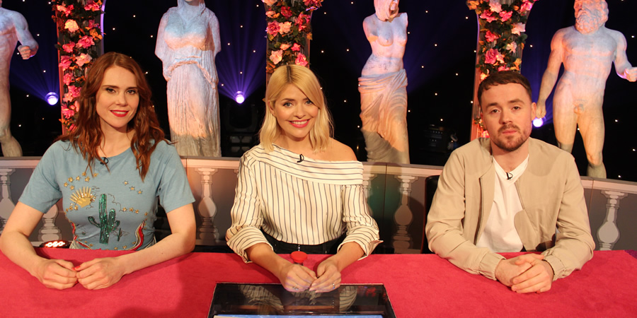 Celebrity Juice. Image shows from L to R: Kate Nash, Holly Willoughby, Michael Stafford.