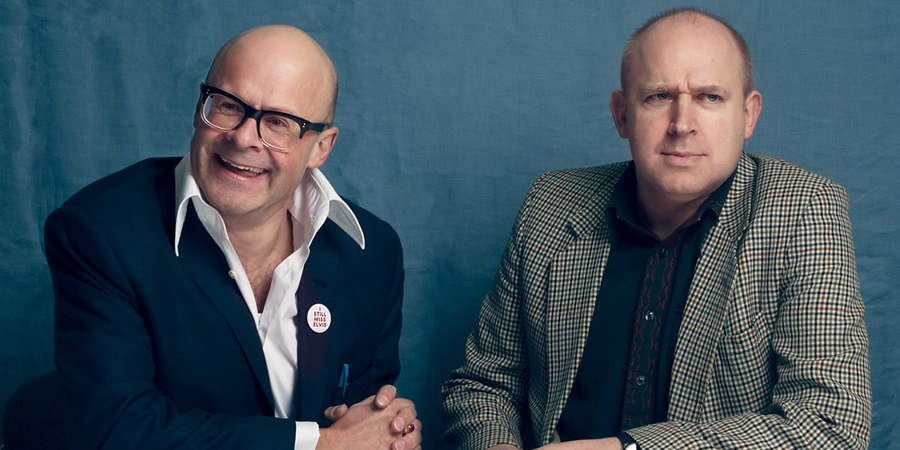 Chain Reaction. Image shows from L to R: Harry Hill, Tim Vine. Copyright: BBC.