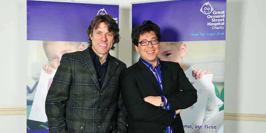 Channel 4's Comedy Gala. Image shows from L to R: John Bishop, Michael McIntyre.