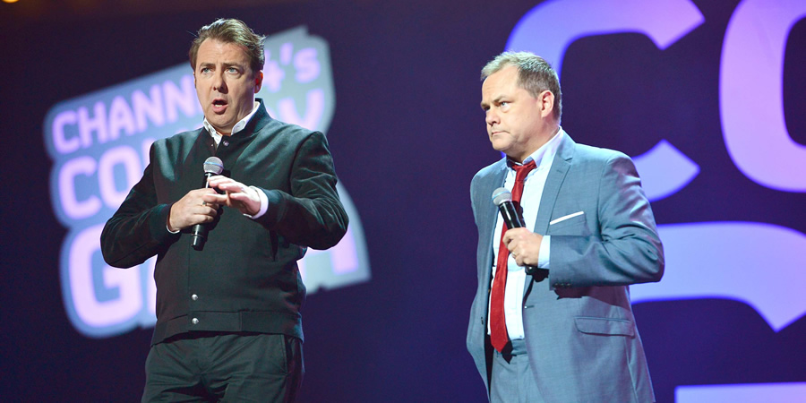 Channel 4's Comedy Gala. Image shows from L to R: Jonathan Ross, Jack Dee.