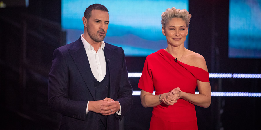 Comic Relief. Image shows from L to R: Paddy McGuinness, Emma Willis. Copyright: BBC.