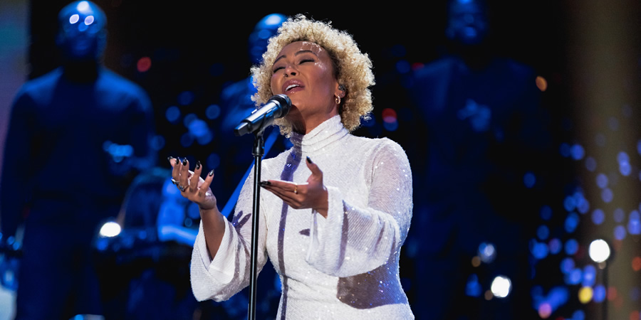 Comic Relief. Emeli Sandé. Copyright: BBC.