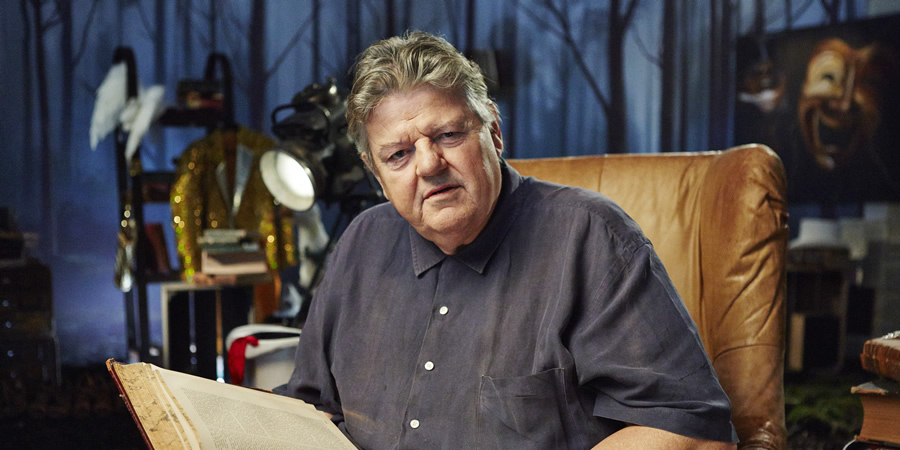 Crackanory. Robbie Coltrane. Copyright: Tiger Aspect Productions.
