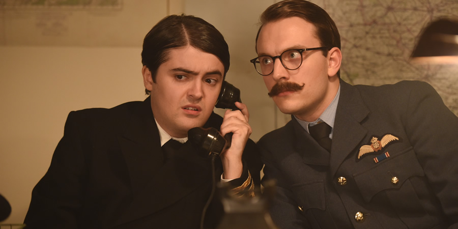 Drunk History. Image shows from L to R: Ewen Montagu (Dean Dobbs), Charles Cholmondeley (Jack Howard). Copyright: Tiger Aspect Productions.