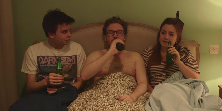 The Girl Whisperer. Image shows from L to R: Joz (Joz Norris), Funny Pete (John Kearns), Emma (Harriet Kemsley).