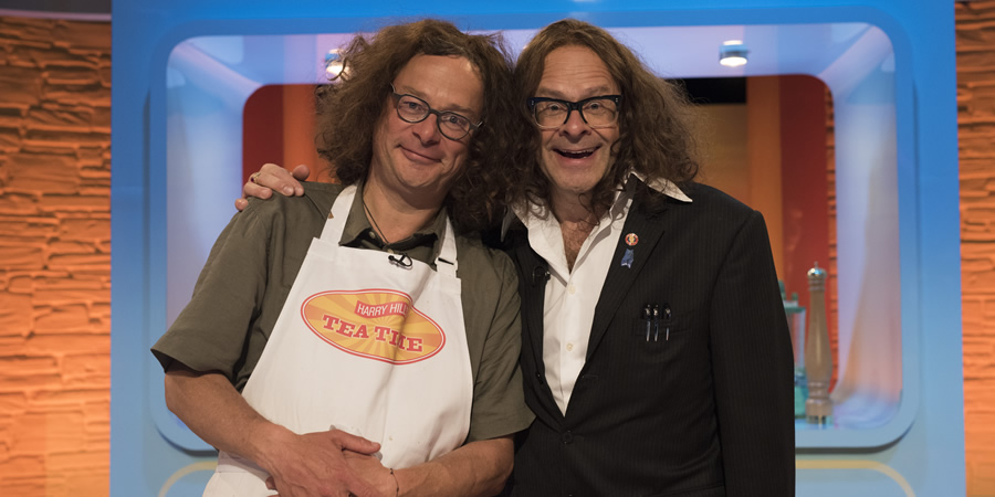 Harry Hill's Tea Time. Image shows from L to R: Hugh Fearnley-Whittingstall, Harry Hill. Copyright: Nit TV.