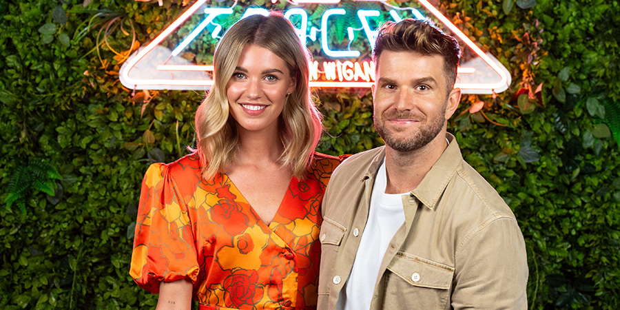 Hey Tracey!. Image shows from L to R: Hannah Cooper, Joel Dommett.