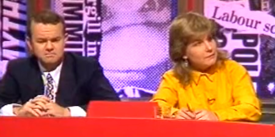 Have I Got News For You. Image shows from L to R: Ian Hislop, Sandi Toksvig.