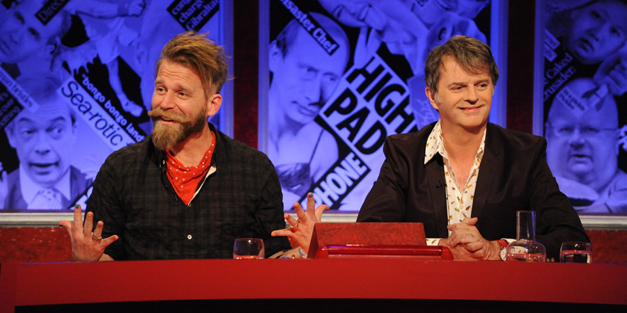 Have I Got News For You. Image shows from L to R: Tony Law, Paul Merton.