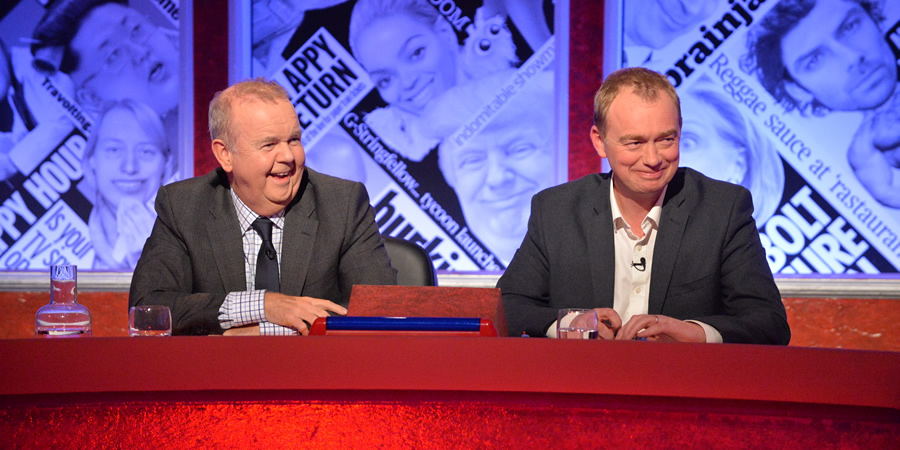 Have I Got News For You. Image shows from L to R: Ian Hislop, Tim Farron.