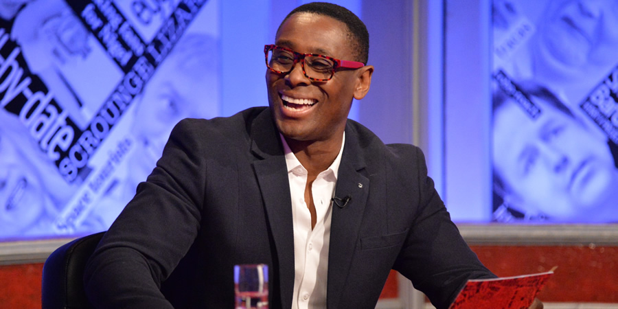 Have I Got News For You. David Harewood.