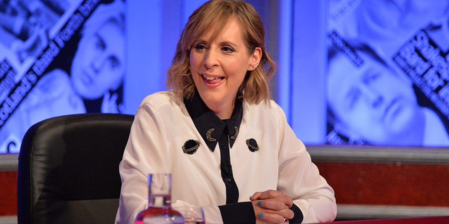 Have I Got News For You. Mel Giedroyc. Copyright: Hat Trick Productions.
