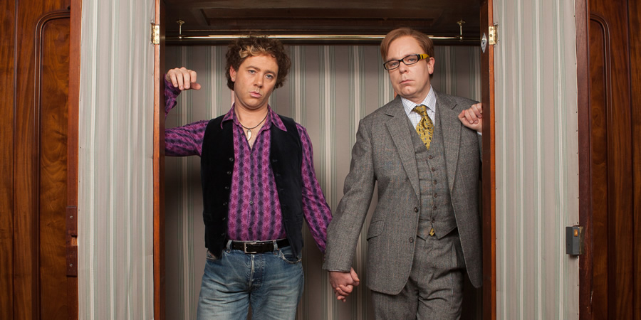 Inside No. 9. Image shows from L to R: Stu (Reece Shearsmith), Carl (Steve Pemberton). Copyright: BBC.