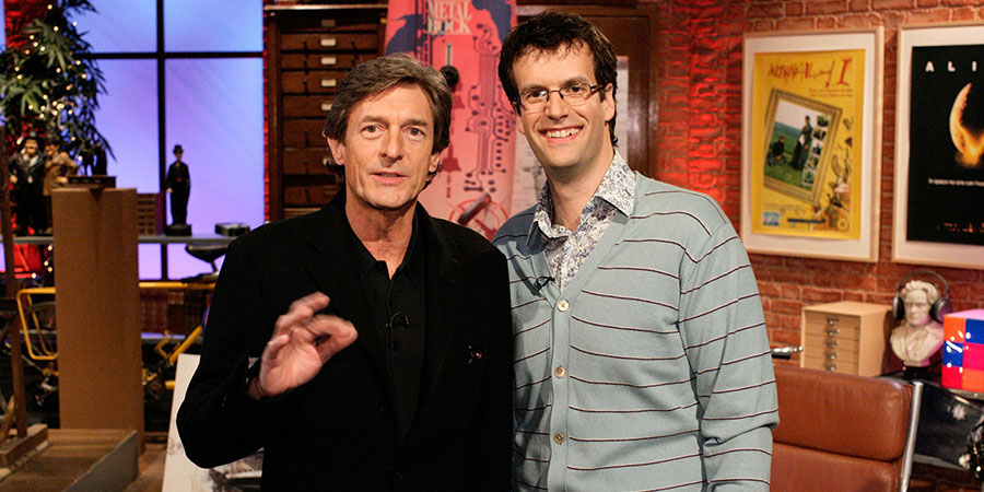 I've Never Seen Star Wars. Image shows from L to R: Nigel Havers, Marcus Brigstocke. Copyright: BBC.