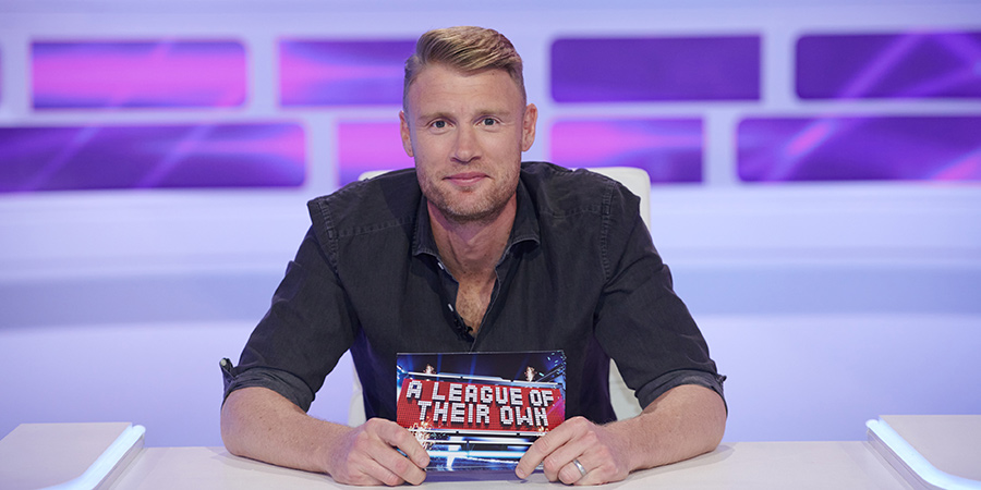 A League Of Their Own. Andrew Flintoff. Copyright: CPL Productions.