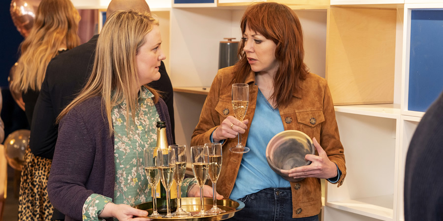 Motherland. Image shows from L to R: Anne (Philippa Dunne), Liz (Diane Morgan).