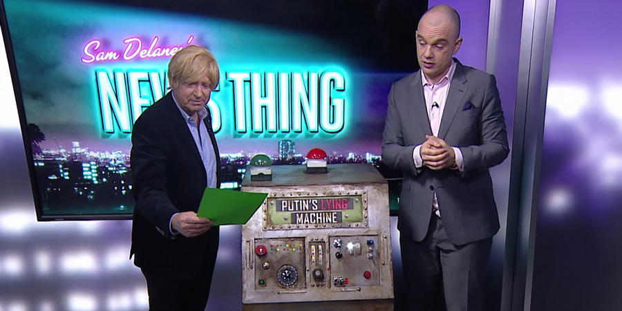 Sam Delaney's News Thing. Image shows from L to R: Michael Fabricant, Sam Delaney.