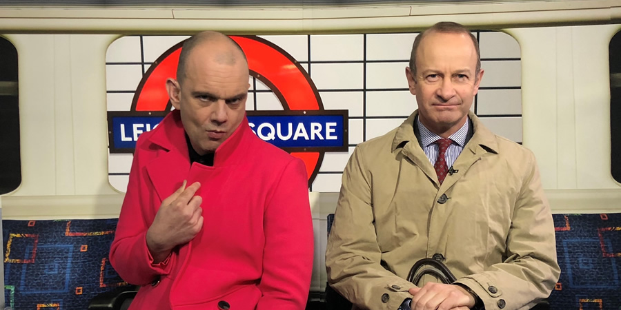 Sam Delaney's News Thing. Image shows from L to R: Sam Delaney, Henry Bolton.