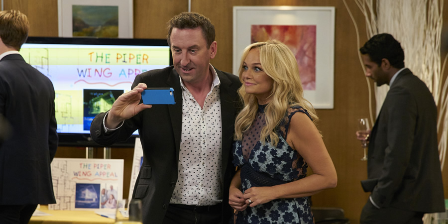 Not Going Out. Image shows from L to R: Lee (Lee Mack), Emma Bunton. Copyright: Avalon Television.