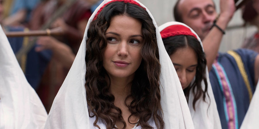 Plebs. Ursula (Michelle Keegan). Copyright: RISE Films.