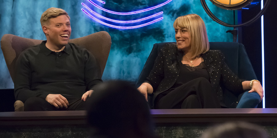 The Ranganation. Image shows from L to R: Rob Beckett, Fay Ripley. Copyright: Zeppotron.