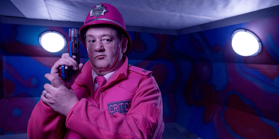Red Dwarf. Crit Cop (Johnny Vegas).