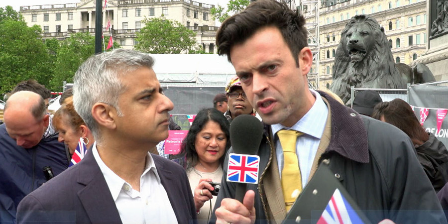Revolting. Image shows from L to R: Sadiq Khan, Jolyon Rubinstein. Copyright: Hat Trick Productions.