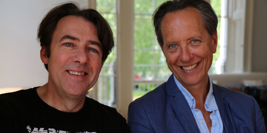 Richard E. Grant On... Ealing Comedies. Image shows from L to R: Jonathan Ross, Richard E. Grant. Copyright: Phil McIntyre Entertainment.