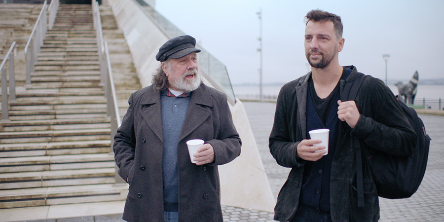 Ricky & Ralf's Very Northern Road Trip. Image shows from L to R: Ricky Tomlinson, Ralf Little. Copyright: North One Television.