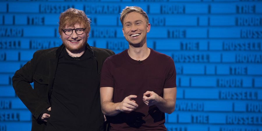 The Russell Howard Hour. Image shows from L to R: Ed Sheeran, Russell Howard. Copyright: Avalon Television.