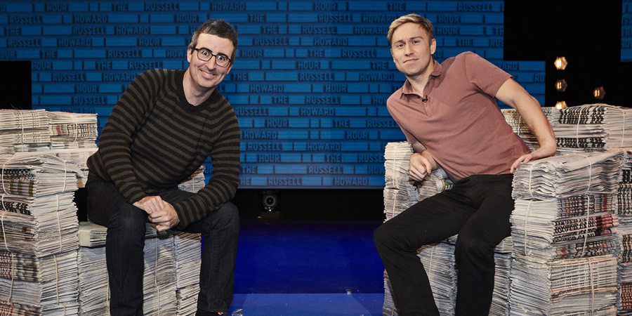 The Russell Howard Hour. Image shows from L to R: John Oliver, Russell Howard. Copyright: Avalon Television.