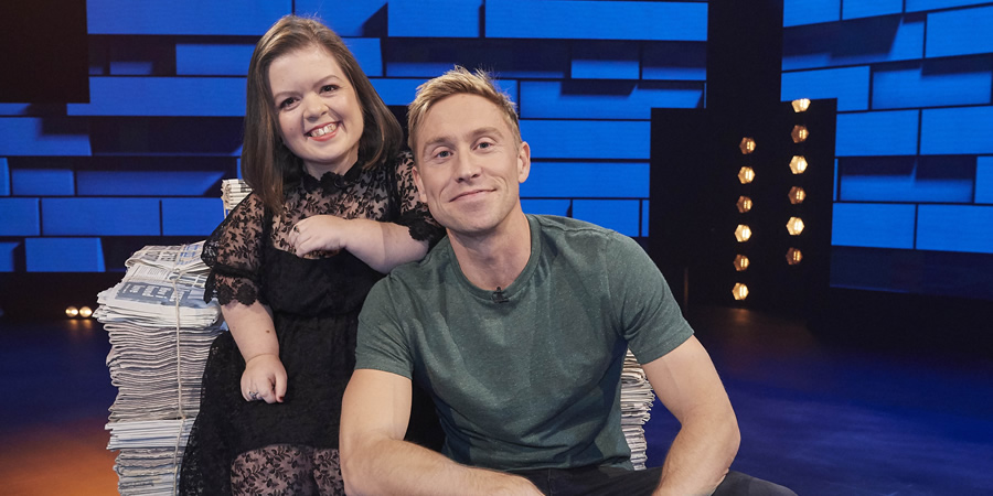 The Russell Howard Hour. Image shows from L to R: Sinéad Burke, Russell Howard. Copyright: Avalon Television.