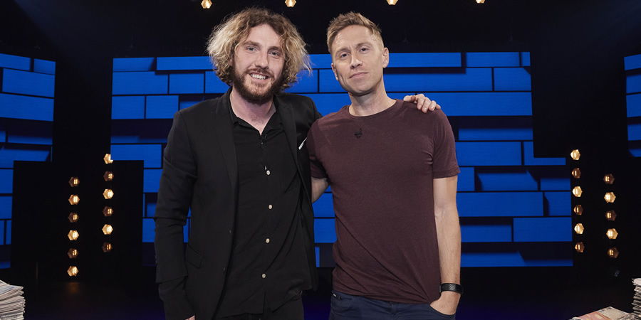 The Russell Howard Hour. Image shows from L to R: Russell Howard, Seann Walsh. Copyright: Avalon Television.
