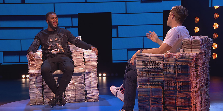 The Russell Howard Hour. Image shows from L to R: Mo Gilligan, Russell Howard. Copyright: Avalon Television.
