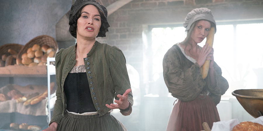 Sally4Ever. Image shows from L to R: Lena Headey, Emma (Julia Davis).