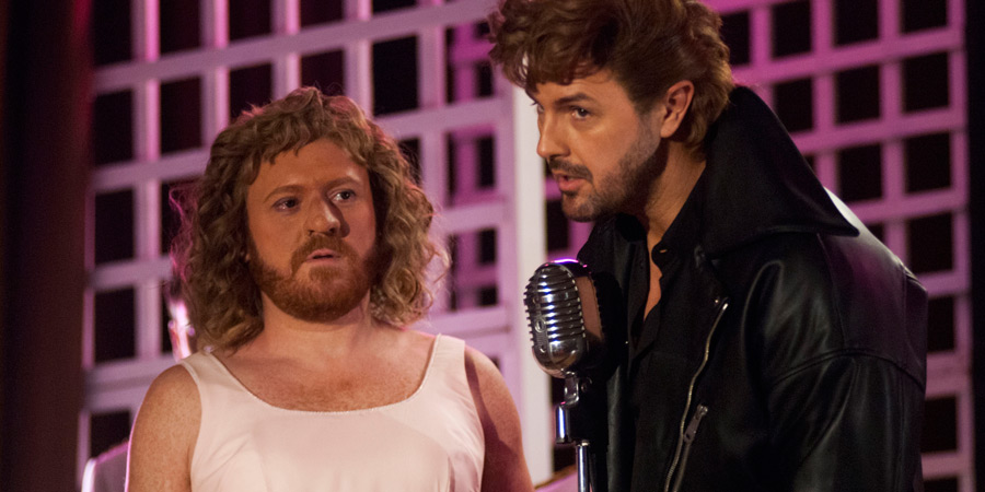 The Keith & Paddy Picture Show. Image shows from L to R: Baby (Leigh Francis), Johnny (Paddy McGuinness). Copyright: Talkback.