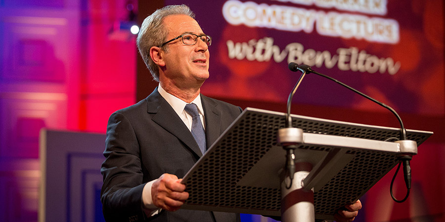The Ronnie Barker Comedy Lecture. Ben Elton. Copyright: BBC.