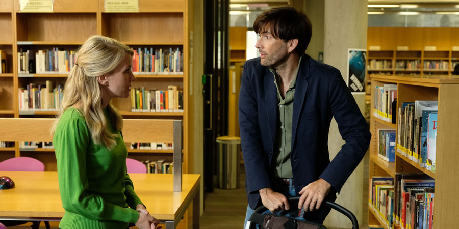 There She Goes. Image shows from L to R: Katy (Rachel Parris), Simon (David Tennant). Copyright: Merman.