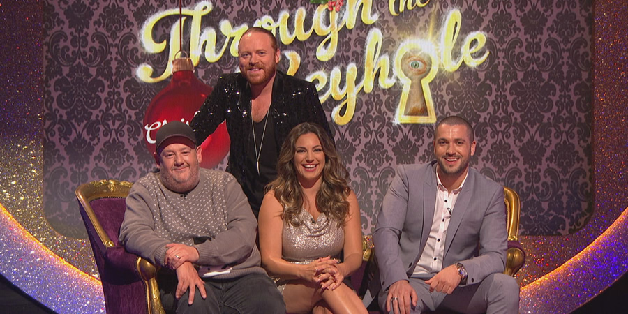 Through The Keyhole. Image shows from L to R: Johnny Vegas, Leigh Francis, Kelly Brook, Shayne Ward. Copyright: Talkback.