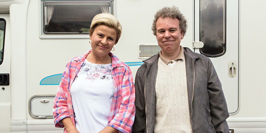 Tracey Ullman's Show. Image shows from L to R: Tracey Ullman, Steve Pemberton. Copyright: BBC / Allan McKeown Presents.