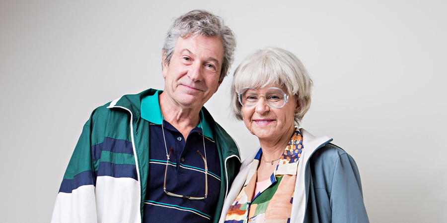 Tracey Ullman's Show. Image shows from L to R: Michael Brandon, Tracey Ullman. Copyright: BBC / Allan McKeown Presents.